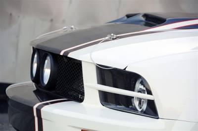 TruFiber - Ford Mustang Urethane Headlight Splitters TF10024-LG29-UR