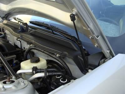 TruFiber - Ford Mustang Metal GT500 LG35 Hood Shocks TF10024-LG35KR