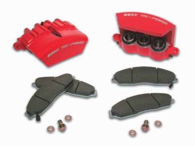 SSBC - SSBC Direct Bolt-On Force 10 Tri-Power 3-Piston Aluminum Calipers & Pads - Front - A187