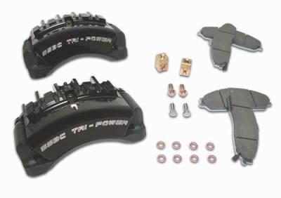SSBC - SSBC Direct Bolt-On Force 10 Tri-Power 3-Piston Aluminum Calipers & Pads - Front - A187-1