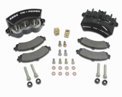 SSBC - SSBC Direct Bolt-On Force 10 Tri-Power 3-Piston Aluminum Calipers & Pads - Rear - A187-2