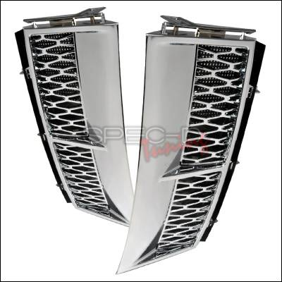 Spec-D - Land Rover Range Rover Spec-D L322 Side Vent - Chrome - VENT-RRL32203SS