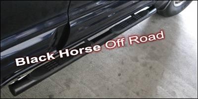 Black Horse - Mitsubishi Montero Black Horse Side Steps