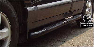 Black Horse - Hyundai Santa Fe Black Horse Side Steps