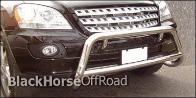Black Horse - Mercedes-Benz GL Class Black Horse Bull Bar Guard - OE Style