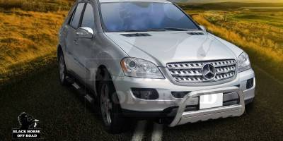 Black Horse - Mercedes-Benz ML Black Horse Bull Bar Guard with Skid Plate - Non OE Style