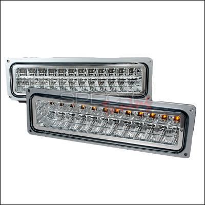 Spec-D - Chevrolet C10 Spec-D LED Bumper Lights - Chrome - 2LB-C1088CLED-KS