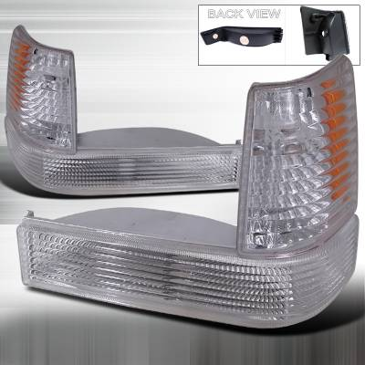 Spec-D - Jeep Grand Cherokee Spec-D Bumper Light & Corner Light - Chrome - 2LBLC-GKEE93-RS