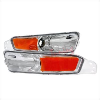 Spec-D - Ford Mustang Spec-D Bumper Lights - Chrome - 2LB-MST05-APC
