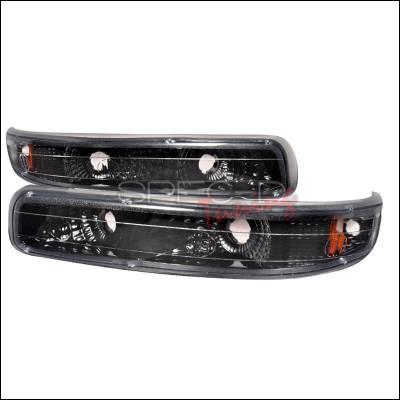 Spec-D - Chevrolet Suburban Spec-D Bumper Lights - Black - 2LB-SIV99JM-RS
