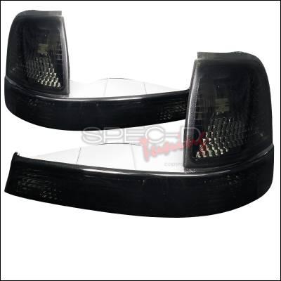 Spec-D - Ford Ranger Spec-D Corner Lights - Smoked - 2LC-RAN98G-RS