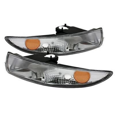 Spyder - Chevrolet Camaro Spyder Amber Bumper Lights - Euro - CBL-CCAM93-AM-E
