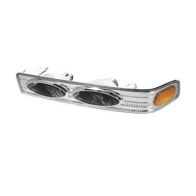 Spyder - Chevrolet S10 Spyder Amber Bumper Lights - Euro - CBL-CS1098-YD-E-AM