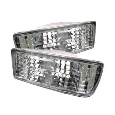 Spyder Auto - Toyota 4Runner Spyder Bumper Lights - Clear - CBL-DP-T499-C