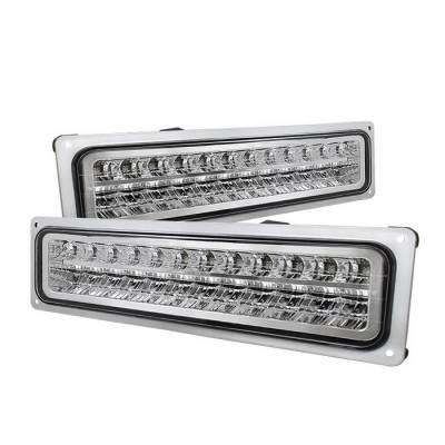 Spyder - Chevrolet C10 Spyder LED Bumper Lights - Chrome - CPL-CCK94-LED-C