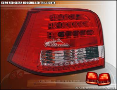 Custom - Euro Red Clear LED Taillights