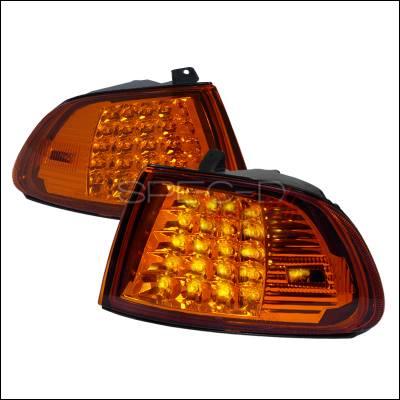 Spec-D - Honda Civic 2DR & 3DR Spec-D LED Corner Lights - Black - LC-CV923AMLED-APC