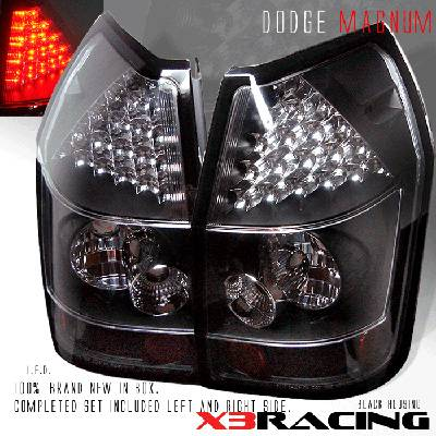 Custom - Black  Clear Lens LED Taillights