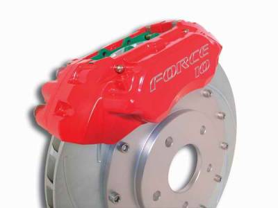 SSBC - SSBC Disc Brake Kit with Force 10 Extreme 4-Piston Aluminum Calipers & 14 Inch Rotors - Front - A113-9