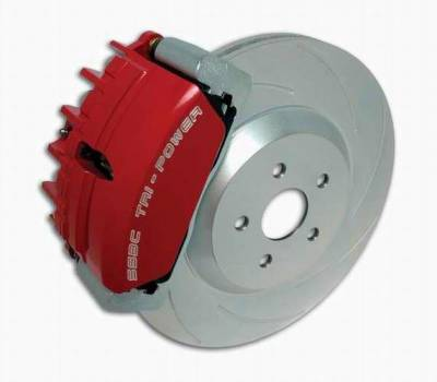 SSBC - SSBC Disc Brake Kit with Force 10 Tri-Power 3-Piston Aluminum Calipers & 13 Inch Rotors - Front - A117-9