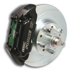 SSBC - SSBC Non-Power Drum To Disc Brake Conversion Kit with Force 10 Extreme 4 Piston Aluminum Calipers - Front - A120-11