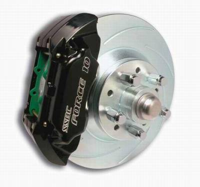 SSBC - SSBC Power Drum to Disc Brake Conversion Kit with 2 Inch Drop Spindles & 2 Piston Aluminum Calipers - Front - A120-9