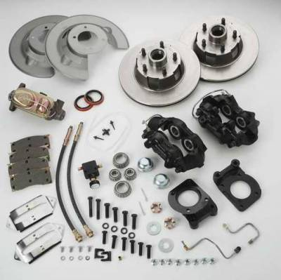 SSBC - SSBC Non-Power Drum To Disc Brake Conversion Kit with Force 10 Extreme 4 Piston Aluminum Calipers - Front - A120D