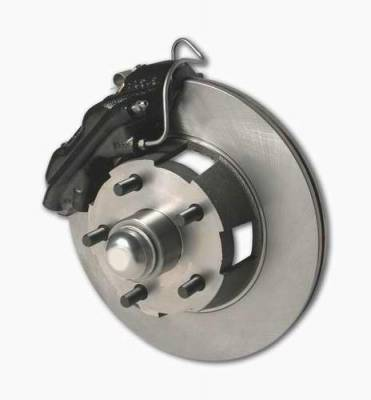SSBC - SSBC Power Drum to Disc Brake Conversion Kit with 2 Inch Drop Spindles & 2 Piston Aluminum Calipers - Front - A121-1