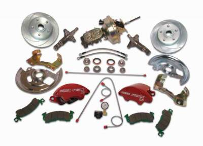 SSBC - SSBC Power Drum to Disc Brake Conversion Kit with 2 Inch Drop Spindles & 2 Piston Aluminum Calipers - Front - A123-1ADS