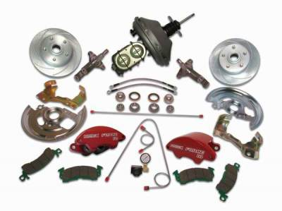 SSBC - SSBC Power Drum to Disc Brake Conversion Kit with 2 Inch Drop Spindles & 2 Piston Aluminum Calipers - Front - A123-5A