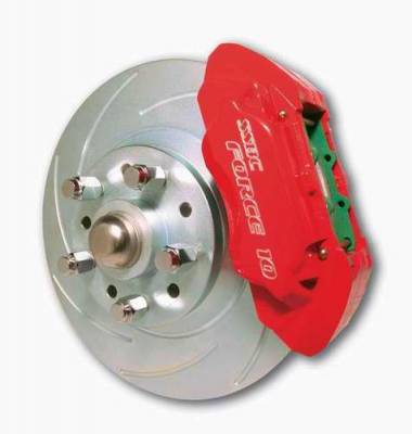 SSBC - SSBC Power Drum to Disc Brake Conversion Kit with 2 Inch Drop Spindles & 2 Piston Aluminum Calipers - Front - A123-7DS