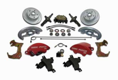 SSBC - SSBC Non-Power Drum To Disc Brake Conversion Kit with Force 10 Extreme 4 Piston Aluminum Calipers - Front - A123-ADS