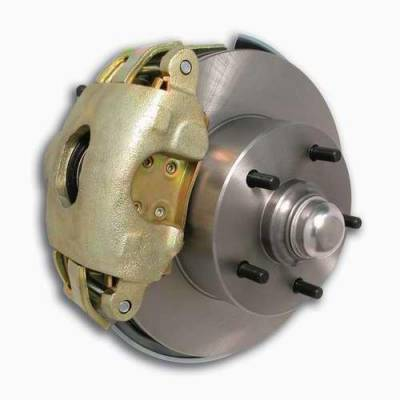 SSBC - SSBC Non-Power Drum To Disc Brake Conversion Kit with Force 10 Extreme 4 Piston Aluminum Calipers - Front - A123DS