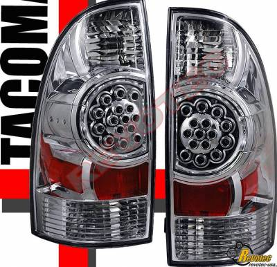 Custom - Chrome  Clear LED Taillights