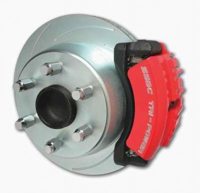 SSBC - SSBC Disc to Disc Upgrade Kit with Force 10 Tri-Power 3-Piston Aluminum Calipers & Stock Size Rotors - Rear - A126-40