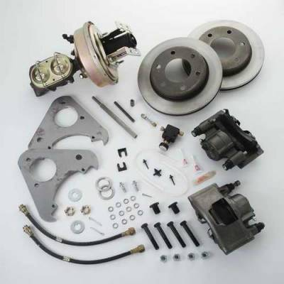 SSBC - SSBC Power Drum to Disc Brake Conversion Kit with Single-Piston Cast Iron Calipers - Front - A126-71