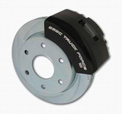 SSBC - SSBC Power Drum to Disc Brake Conversion Kit with 2 Inch Drop Spindles & 2 Piston Aluminum Calipers - Front - A126-71A