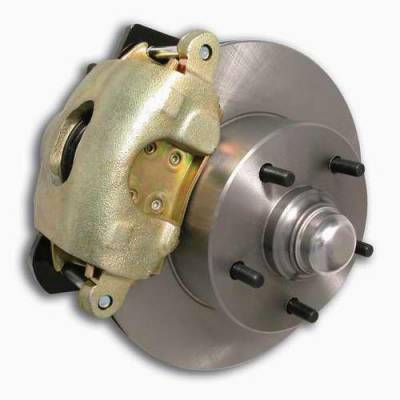 SSBC - SSBC Non-Power Drum To Disc Brake Conversion Kit with Force 10 Extreme 4 Piston Aluminum Calipers - Front - A129-1