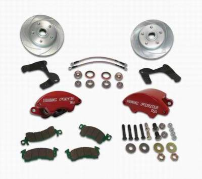 SSBC - SSBC Non-Power Drum To Disc Brake Conversion Kit with Force 10 Extreme 4 Piston Aluminum Calipers - Front - A129-1A