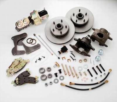 SSBC - SSBC Power Drum to Disc Brake Conversion Kit with 2 Inch Drop Spindles & 2 Piston Aluminum Calipers - Front - A129-2