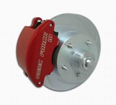 SSBC - SSBC Non-Power Drum To Disc Brake Conversion Kit with Force 10 Extreme 4 Piston Aluminum Calipers - Front - A129-3A