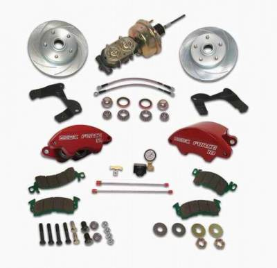 SSBC - SSBC Power Drum to Disc Brake Conversion Kit with 2 Inch Drop Spindles & 2 Piston Aluminum Calipers - Front - A129-4A
