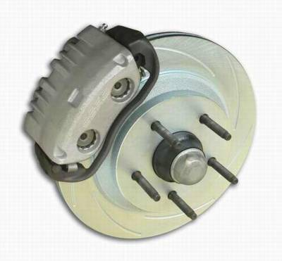 SSBC - SSBC Power Drum to Disc Brake Conversion Kit with 2 Inch Drop Spindles & 2 Piston Aluminum Calipers - Front - A129-5