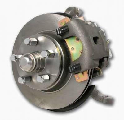 SSBC - SSBC Power Drum to Disc Brake Conversion Kit with 2 Inch Drop Spindles & 2 Piston Aluminum Calipers - Front - A134
