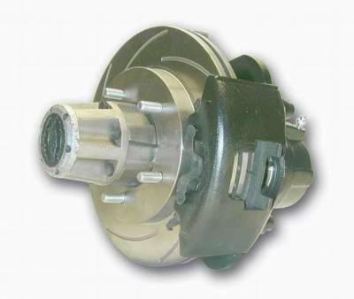 SSBC - SSBC Non-Power Drum to Disc Brake Conversion Kit for Dana 30 Axles - Front - A135-1