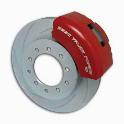 SSBC - SSBC Non-Power Drum To Disc Brake Conversion Kit with Force 10 Extreme 4 Piston Aluminum Calipers - Front - A135-1A