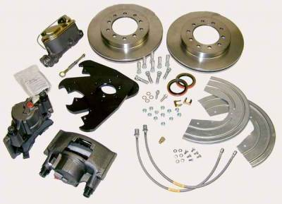 SSBC - SSBC Non-Power Drum to Disc Brake Conversion Kit for Dana 30 Axles - Front - A135-3