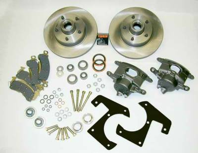 SSBC - SSBC Drum to Disc Brake Conversion Kit with Single-Piston Cast Iron Calipers with 72mm Piston - Front - A148-15