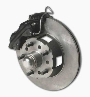 SSBC - SSBC Power Drum to Disc Brake Conversion Kit with 2 Inch Drop Spindles & 2 Piston Aluminum Calipers - Front - A153-1