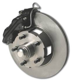 SSBC - SSBC Power Drum to Disc Brake Conversion Kit with 2 Inch Drop Spindles & 2 Piston Aluminum Calipers - Front - A153-3